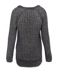Rag & Bone | Black Lynne Knitted Wool Jumper | Lyst