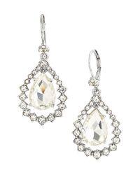 Marchesa - Metallic Open Drop Earrings - Lyst
