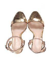 Loeffler Randall Metallic Amelia Gold Sandal