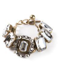 Lanvin | Natural Chain Crystal Bracelet | Lyst