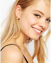 ASOS Metallic Facteted Bead Swing Earrings