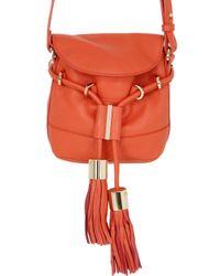 See By Chloé - Orange Vicki Grained Leather Shoulder Bag - Lyst