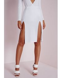 Double Thigh Split Skirt March 2017
