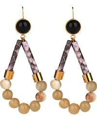 Marni | Multicolor Leather And Resin Drop Earrings - For Women | Lyst