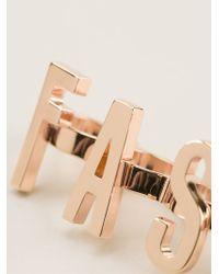 Moschino Metallic Set Of Three Statement Rings