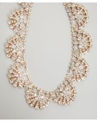 Kenneth Jay Lane - Metallic Gold Crystal Statement Necklace - Lyst