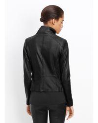 Vince - Black Paneled Leather Jacket  - Lyst