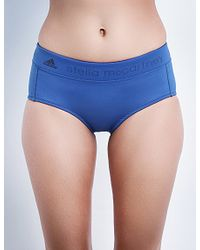 Adidas By Stella McCartney Blue Branded Neoprene Swim Shorts