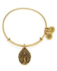 ALEX AND ANI | Gold Guardian Of Peace Expandable Wire Bracelet | Lyst