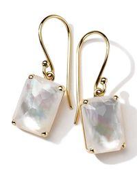 Ippolita | White 18k Gold Rock Candy Gelato Single Rectangle Drop Earrings | Lyst