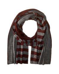 Calvin Klein | Gray Logo Stripe Muffler for Men | Lyst