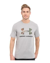 Under Armour - Multicolor Ua Camo Fill Logo Charged Cotton Tee for Men - Lyst