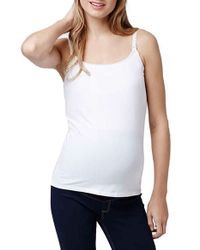 TOPSHOP | Gray Maternity Nursing Camisole, (fits Like 0-2) | Lyst