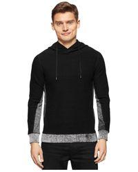 Calvin Klein Jeans - Black Terry Colorblocked Hoodie for Men - Lyst