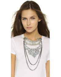 Laura Cantu - Metallic Briana Necklace - Silver/clear - Lyst