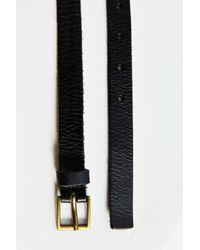 BDG Black Thin Square Buckle Belt