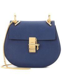 Chloé Blue Drew Leather Shoulder Bag