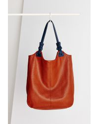 Kimchi Blue Brown Knotted North/south Tote Bag