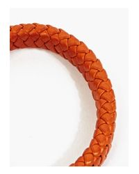 Miansai | Metallic Orange Leather and Sterling Silver Bracelet for Men | Lyst