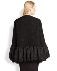 The Row | Black Selfur Ruffle Jacket | Lyst