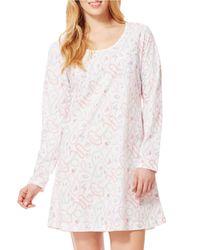 Carole Hochman | Pink Plus Long- Sleeve Sleepshirt | Lyst