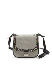 Proenza Schouler - Black Kent Tiny Canvas and Snakeskin Shoulder Bag - Lyst