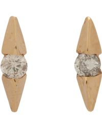 Loren Stewart | Metallic Diamond Wing Stud Earrings | Lyst