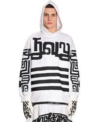 KTZ White Embroidered Detail Cotton Sweatshirt for men
