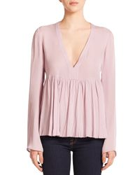 Elizabeth and James | Purple Silk Aracell Blouse | Lyst