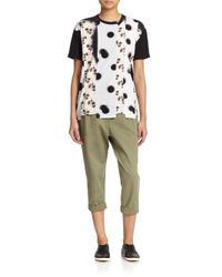 Marc By Marc Jacobs - Green Classic Cotton Cropped Trousers - Lyst