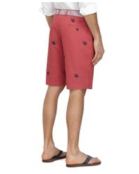 """Brooks Brothers - 11"""" Embroidered Turtle Bermuda Shorts for Men - Lyst"""