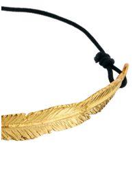 ASOS - Metallic Large Feather Friendship Bracelet - Lyst