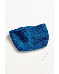 Urban Outfitters Blue Metal Snap Ear Warmer