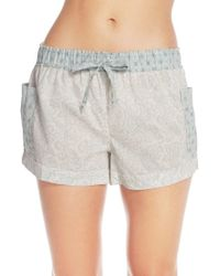 Free People | Gray Print Cotton Lawn Shorts | Lyst