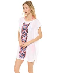 MILLY - White Cape Creton Embroidered Cover Up - Lyst