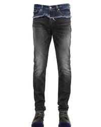 Miharayasuhiro Black Washed Distressed Cotton Denim Jeans for men