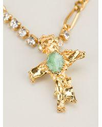 Christian Lacroix - Metallic Crucifix Pendant Necklace - Lyst