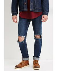 Forever 21 | Blue Slim Fit Distressed Jeans You've Been Added To The Waitlist for Men | Lyst
