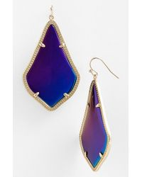 Kendra Scott | Purple 'alexandra' Large Drop Earrings | Lyst