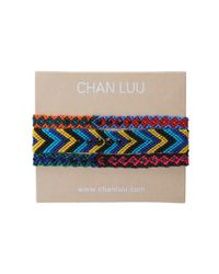 Chan Luu Multicolor 3 Pack Woven Friendship Bracelet with Crystals