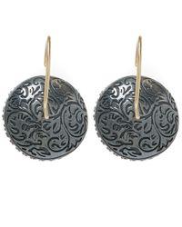 Larkspur & Hawk - Pink Topaz Olivia Button Earrings - Lyst