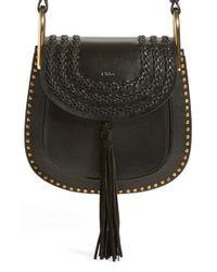 Chloé | Black Hudson Small Studded Leather Shoulder Bag | Lyst