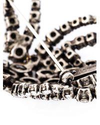 Saint Laurent | Metallic Spider Brooch | Lyst