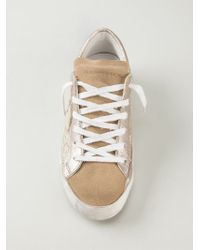 Philippe Model Natural Glitter Sneakers