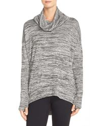 Bench | Gray 'addition' Space Dye Cowl Neck Top | Lyst
