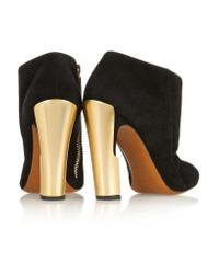 Calvin Klein - Black Nara Suede Ankle Boots - Lyst