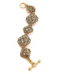 Oscar de la Renta Multicolor Rose Pave Bracelet - Black Diamond