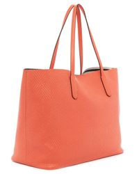 Splendid Orange Key Largo Textured Tote