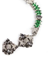 Assad Mounser - Green 'betelgeuse' Swarovski Crystal Necklace - Lyst