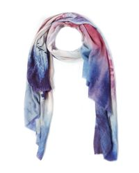 Lily and Lionel | Purple London Eye Sunset Silk-blend Scarf | Lyst